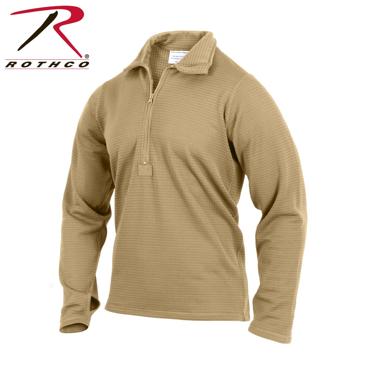 Rothco Gen III Level II Underwear Top is AR 670-1 Compliant Thermal Long  Sleeve d10dfc912f8
