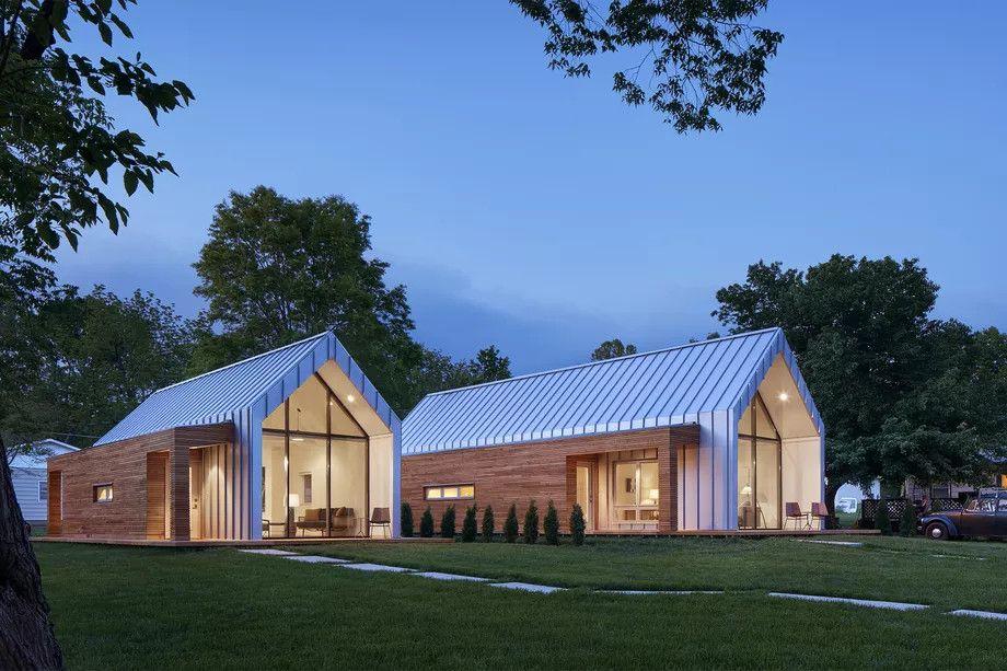 Deux maisons pr fabriqu es et design de 57 et 85 m2 pour - Deux maisons sur un seul terrain ...