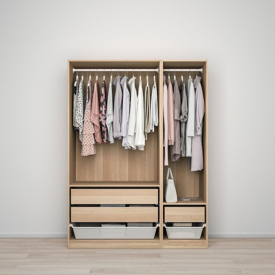 Pax Armoire Penderie Effet Chene Blanchi Forsand Effet Chene Blanchi Ikea En 2020 Armoire Pax Penderie Ikea Penderie Pax