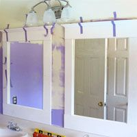 Bathroom makeover how to add decorative molding to a - Decorative trim for bathroom mirrors ...