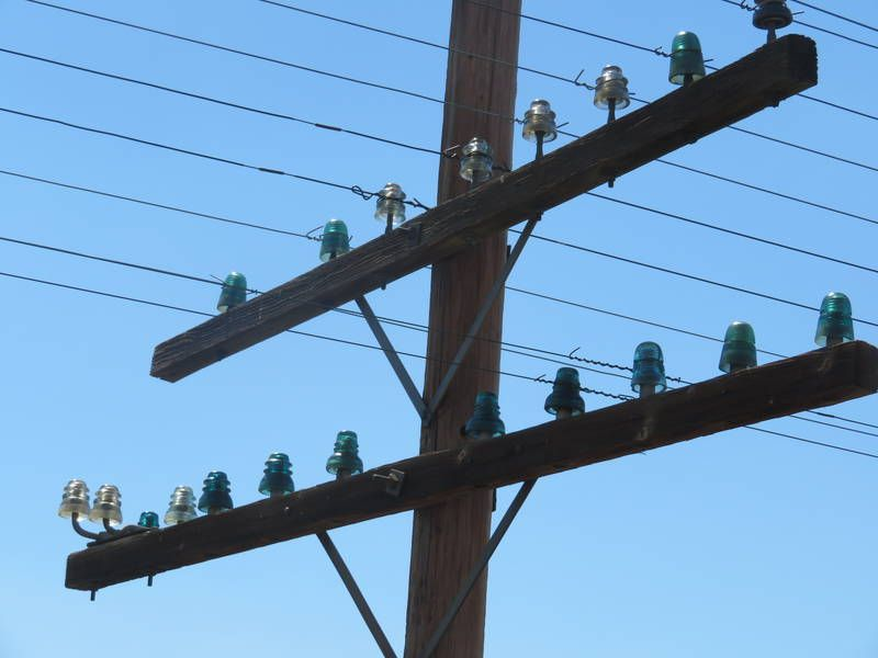 Insulators In Service Wyoming U P R R Main Electrical Projects Insulation Utility Pole