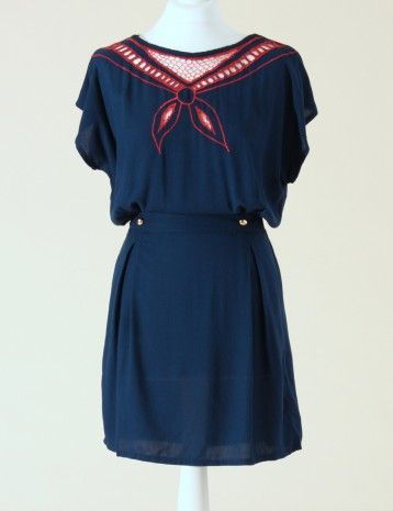 Sailor Style. Maritime. Navy inspired, 1940\'s, Vintage Dress, Swing ...