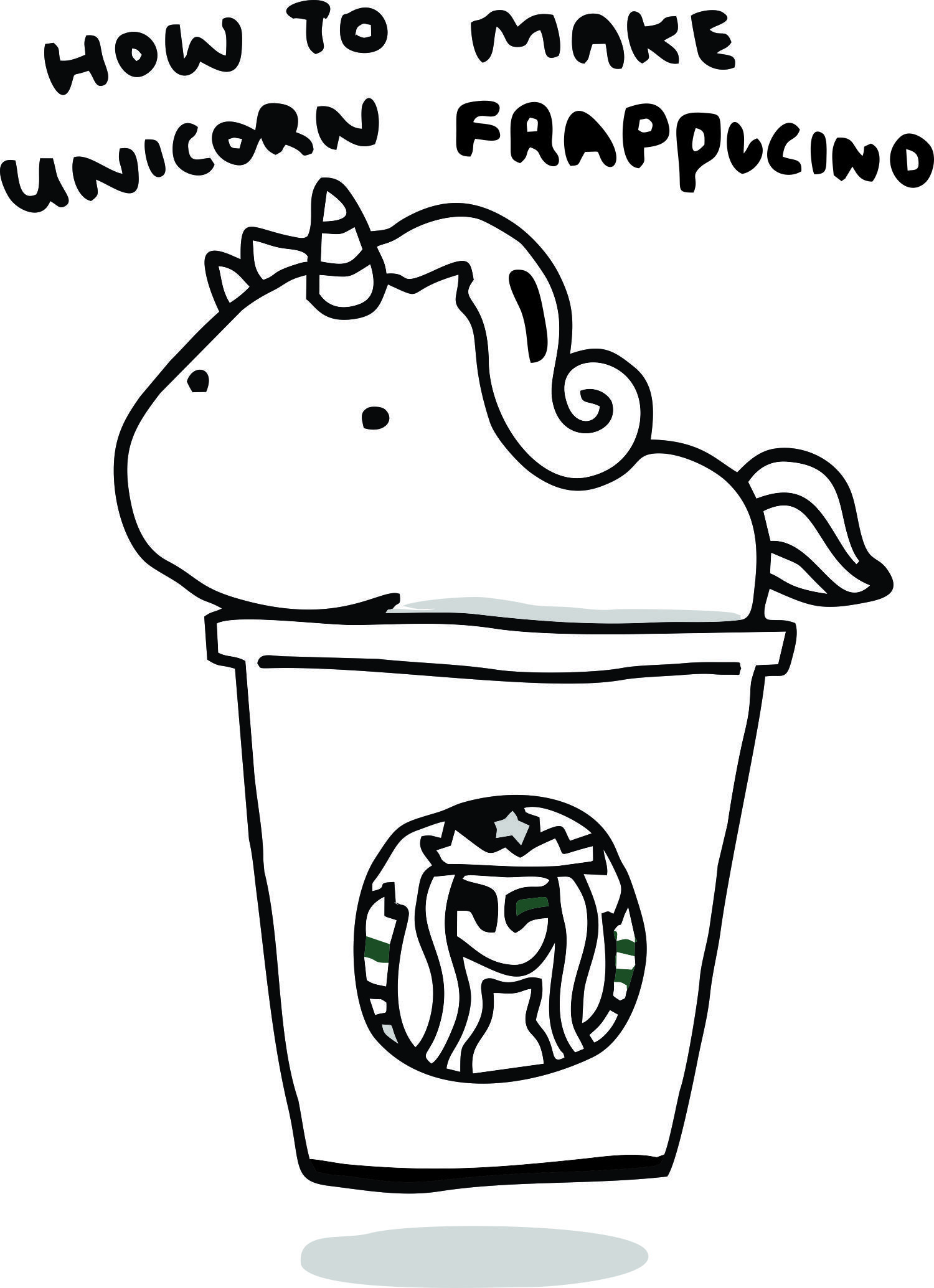 Starbucks Coloring Pages to Print  Unicorn coloring pages