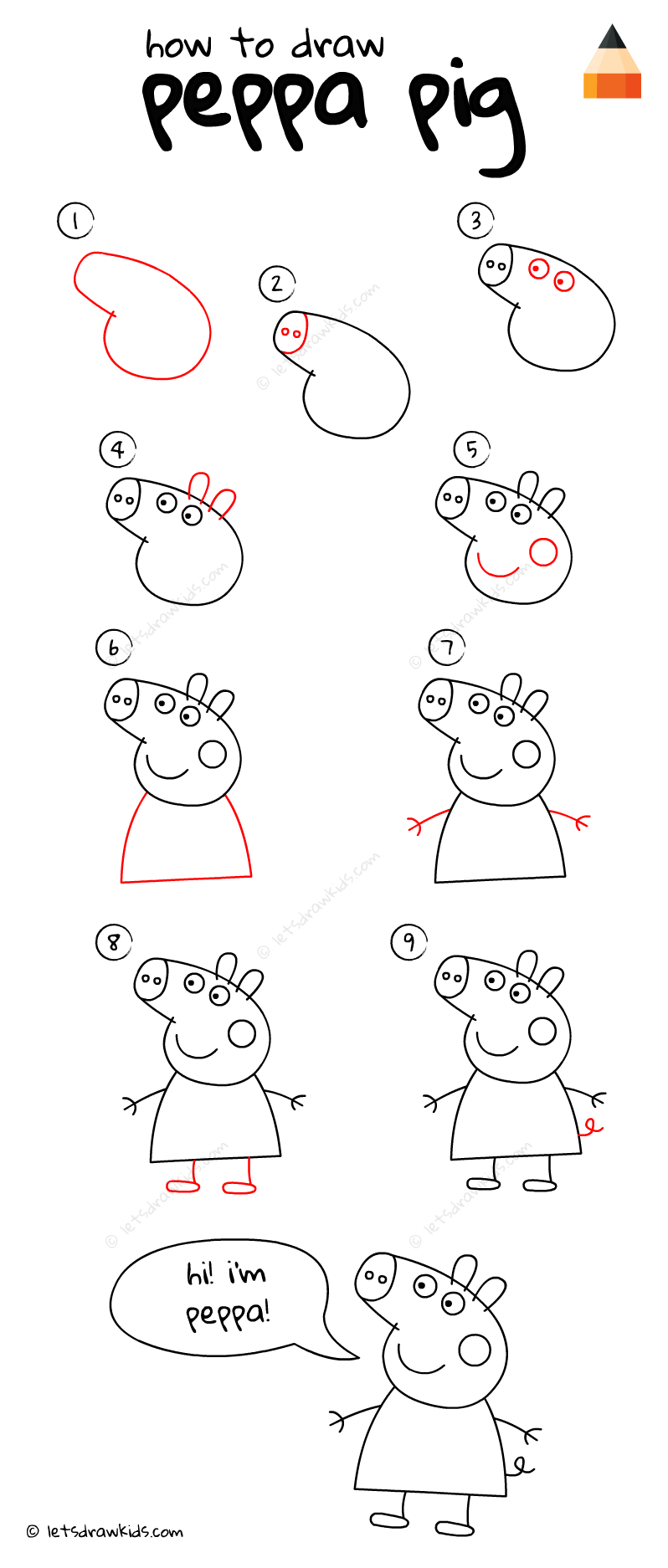 How To Draw Peppa Pig Peppanniversaire Dessin Enfant