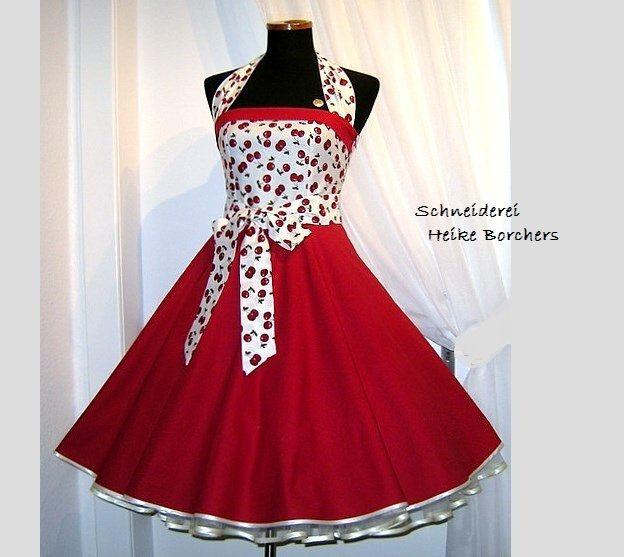 Petticoatkleid ~Kirschsahne~ von Schneiderei Heike Borchers auf DaWanda.com