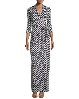 Abigail Silk Jersey Maxi Wrap Dress by Diane von Furstenberg at Neiman Marcus.