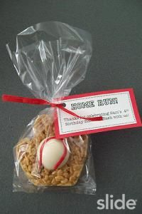 baseball mitt rice crispy treats