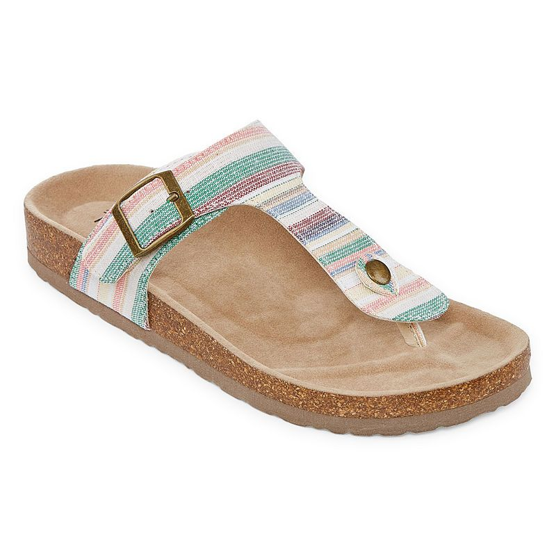 Arizona French Womens T Strap Footbed Sandals In 2019