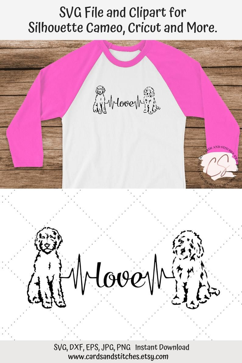 Download Goldendoodle Love Heartbeat SVG and Clipart, Great for ...