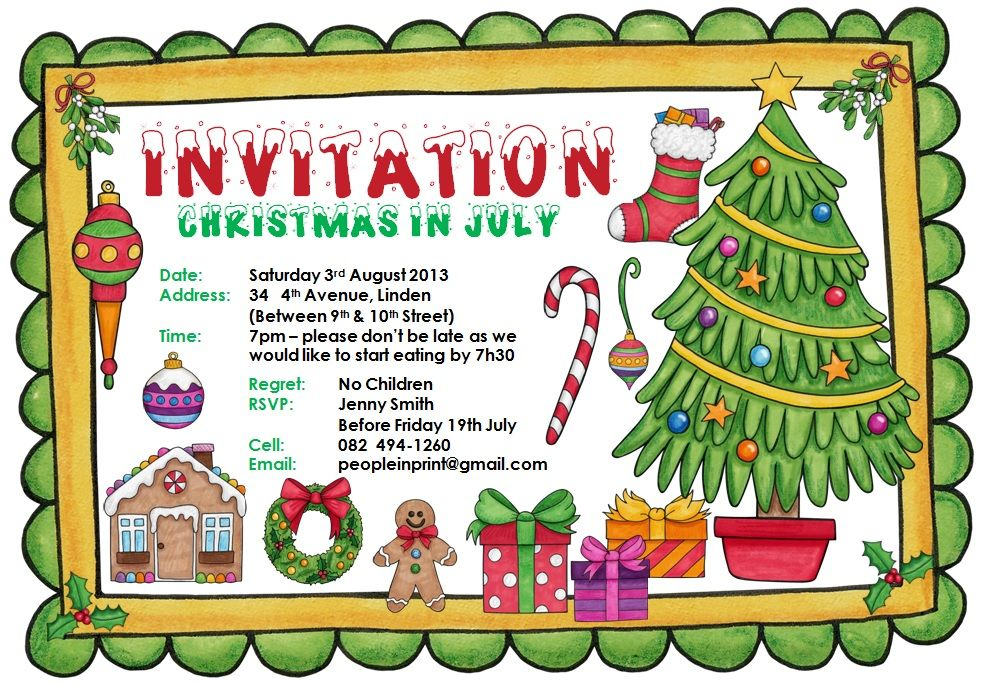 Christmas In July Party Clipart.Christmas In July Invitation Christmas Party Christmas