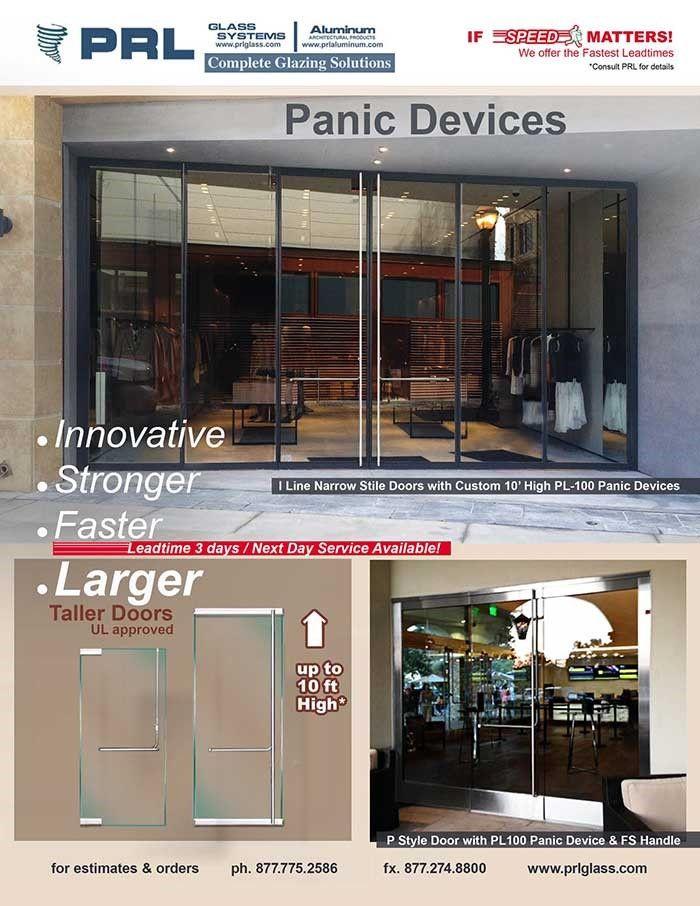 120 Inch Tall Door Panic Device Tempered Glass Door Glass Entrance Doors Doors