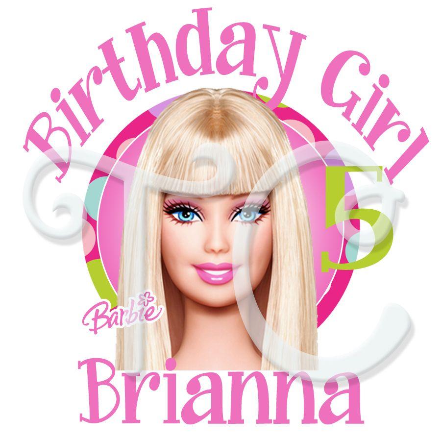 Barbie Zebra Theme 1st And 5th Birthday: City Barbie Personalized Birthday T Shirt
