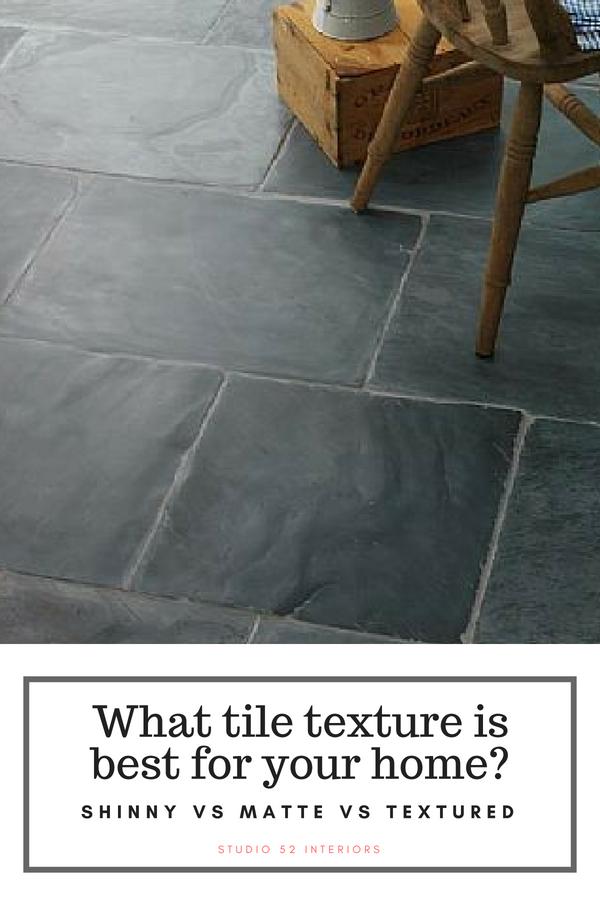 Shiny Vs Matte Textured Floor Tile