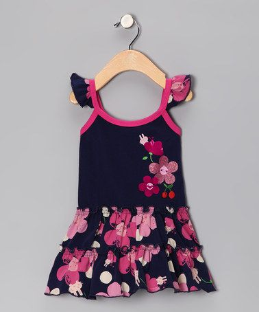 2bcd913699 Take a look at this Navy Cherry Blossom Dress - Infant   Toddler by Lazoo on   zulily today! Find this Pin and more on Cutest Girls ...