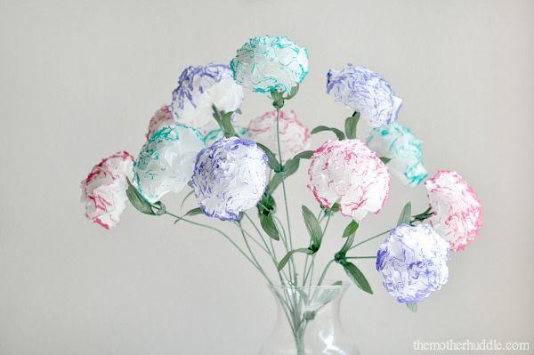 Diy kleenex carnations craft ideas pinterest flower craft and diy tissue kleenex flowers by destri on the mother huddle mightylinksfo