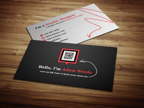 Free Psd Scan My Qr Code Business Cards