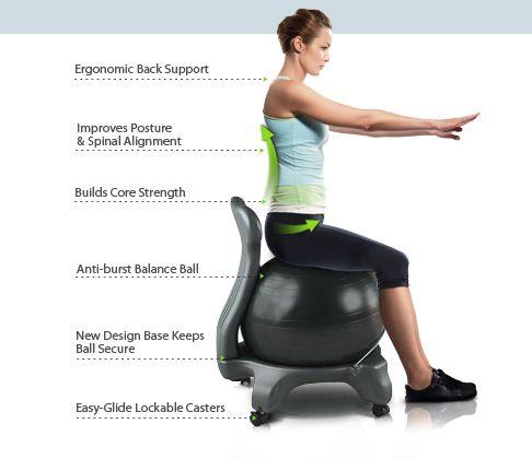Fitball Office Ball Chair The Inside Trainer Desk Exercise Equipment