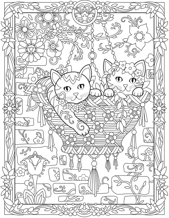 Welcome To Dover Publications Cat Coloring Book Kitten Coloring Book Coloring Books