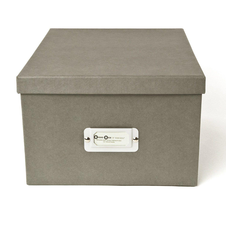 office file boxes. Amazon.com - Bigso Gustav Photo/DVD Box, White Storage File Boxes Office S