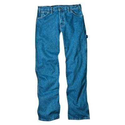 Dickies Men's Loose Fit Carpenter Jean - Stone Washed Blue 48x32