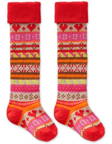 OILILY Marylou Beige Multi Jacquard Socks