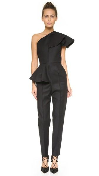 9d1eeed9215 MSGM Ruffle One Shoulder Jumpsuit