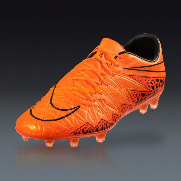... barato zapatos de soccer nike hypervenom phinish ii fg para terreno  firme negro naranja total 33ea001087baa