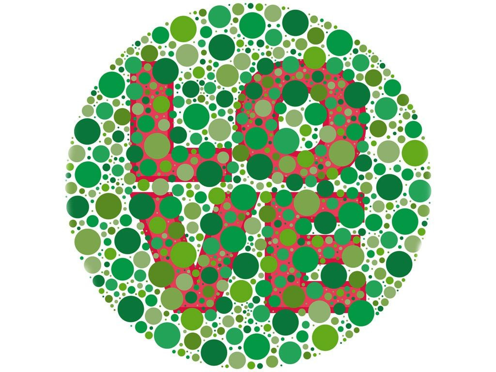 Color blind test - see Love? if so, you have no color blindness ...