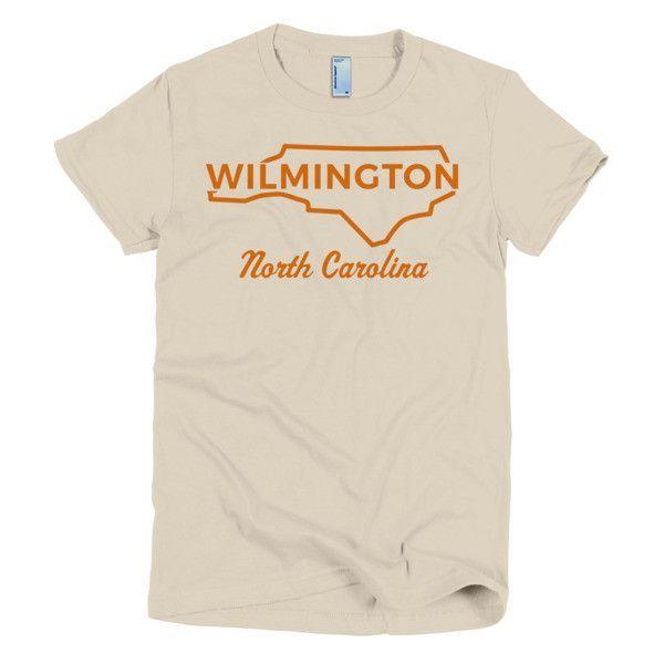Wilmington Short sleeve women's t-shirt - Orange Print