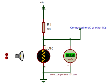 Simple Ldr Circuit Diagram Ldr Circuit Ldr Ldr Light