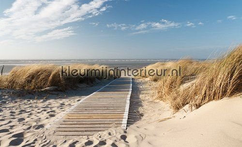 Plaza beach soft colored fotobehang uit de collectie Landscape van ...