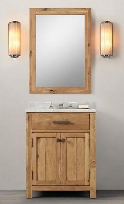 Wooden Bathroom Vanity In Light Walnut Color ,Walnut Bathroom Vanity
