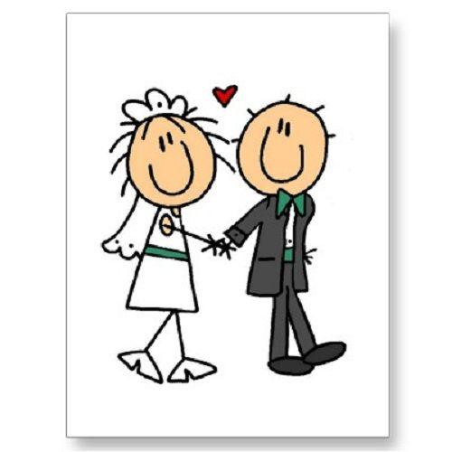 Cartoon Bride And Groom Clipart