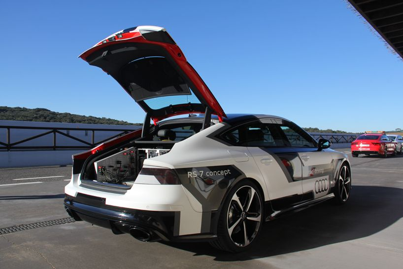 AUDI RS Piloted Driving Concept Car Tested By Designboom On Ascari - Audi piloted driving