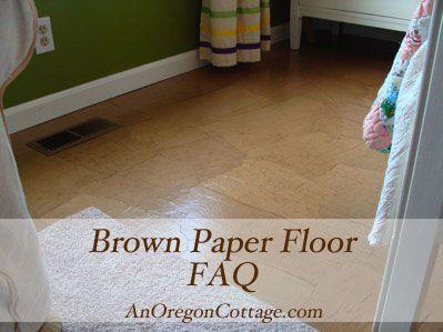 Brown paper floor technique faqs brown paper brown and brown kraft paper floor a diy alternative to wood floors video tutorial an oregon cottage solutioingenieria Gallery