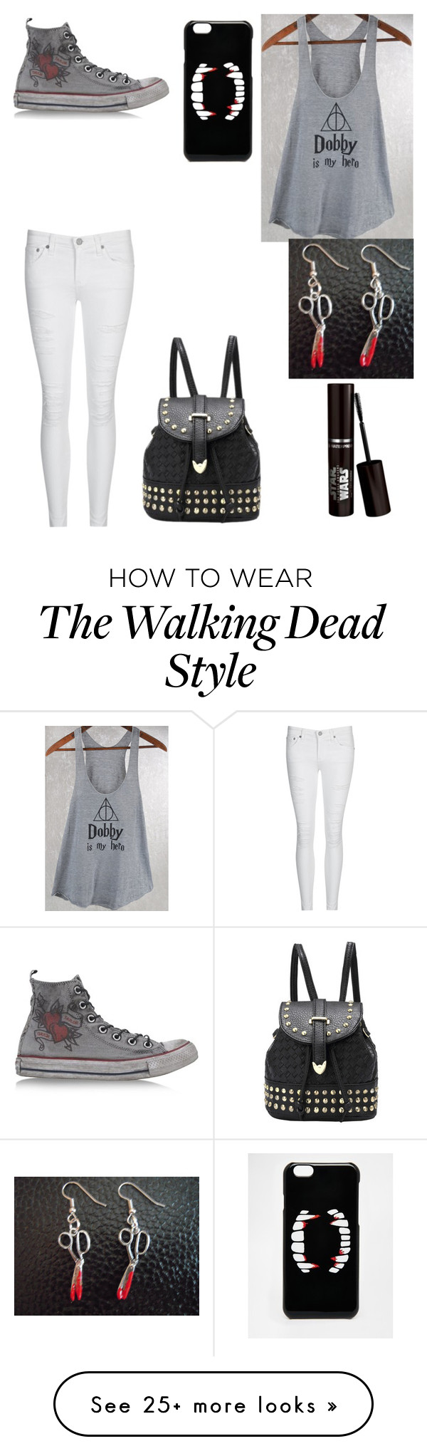 """""""School 4"""" by fuzzybat on Polyvore featuring AG Adriano Goldschmied, Converse and ASOS"""