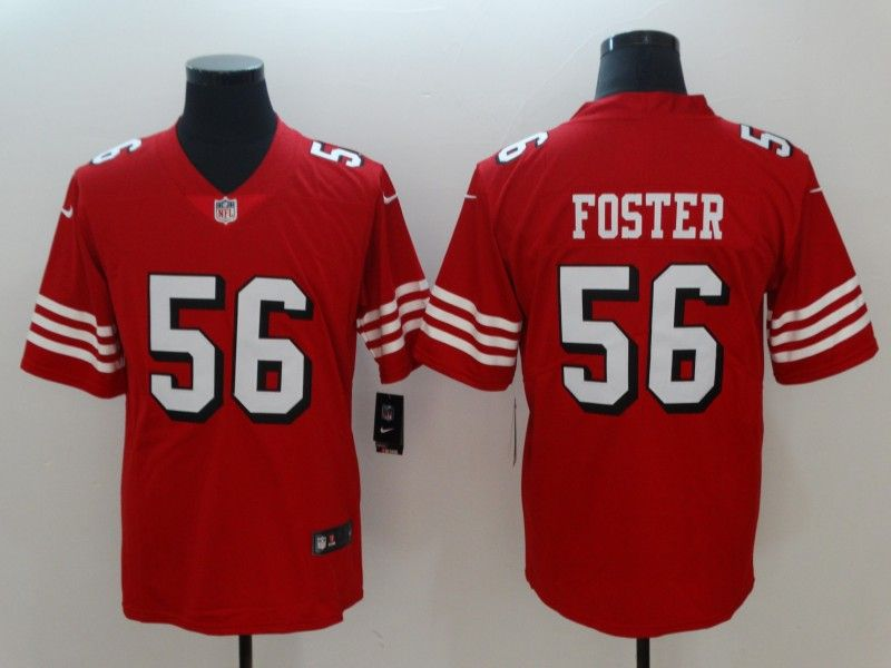 Nike  49ers  56  Reuben  Foster Red Color Rush Vapor  Untouchable  Limited  Jersey ed1f7035d
