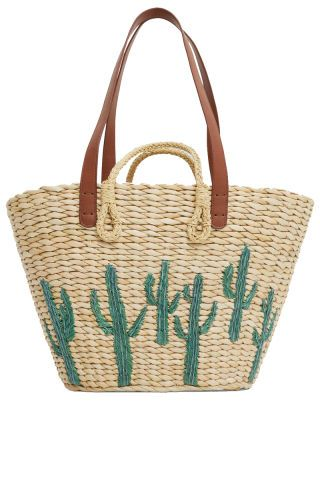 Cactus Straw Purse