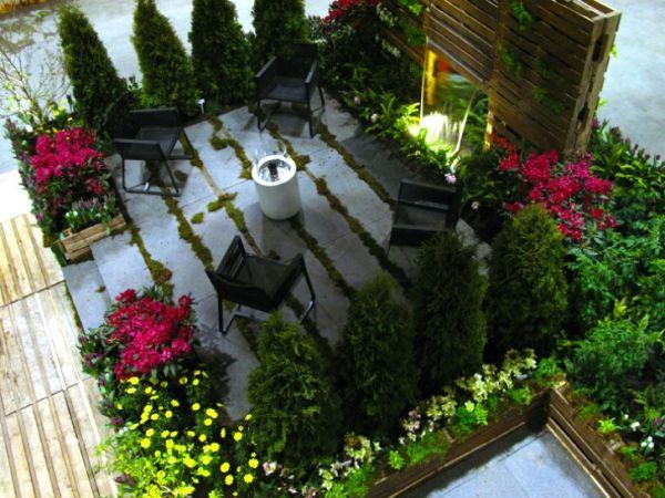 Ideen für kreative Verwendung der Holz Europaletten im Garten - ideen aus holz fur den garten