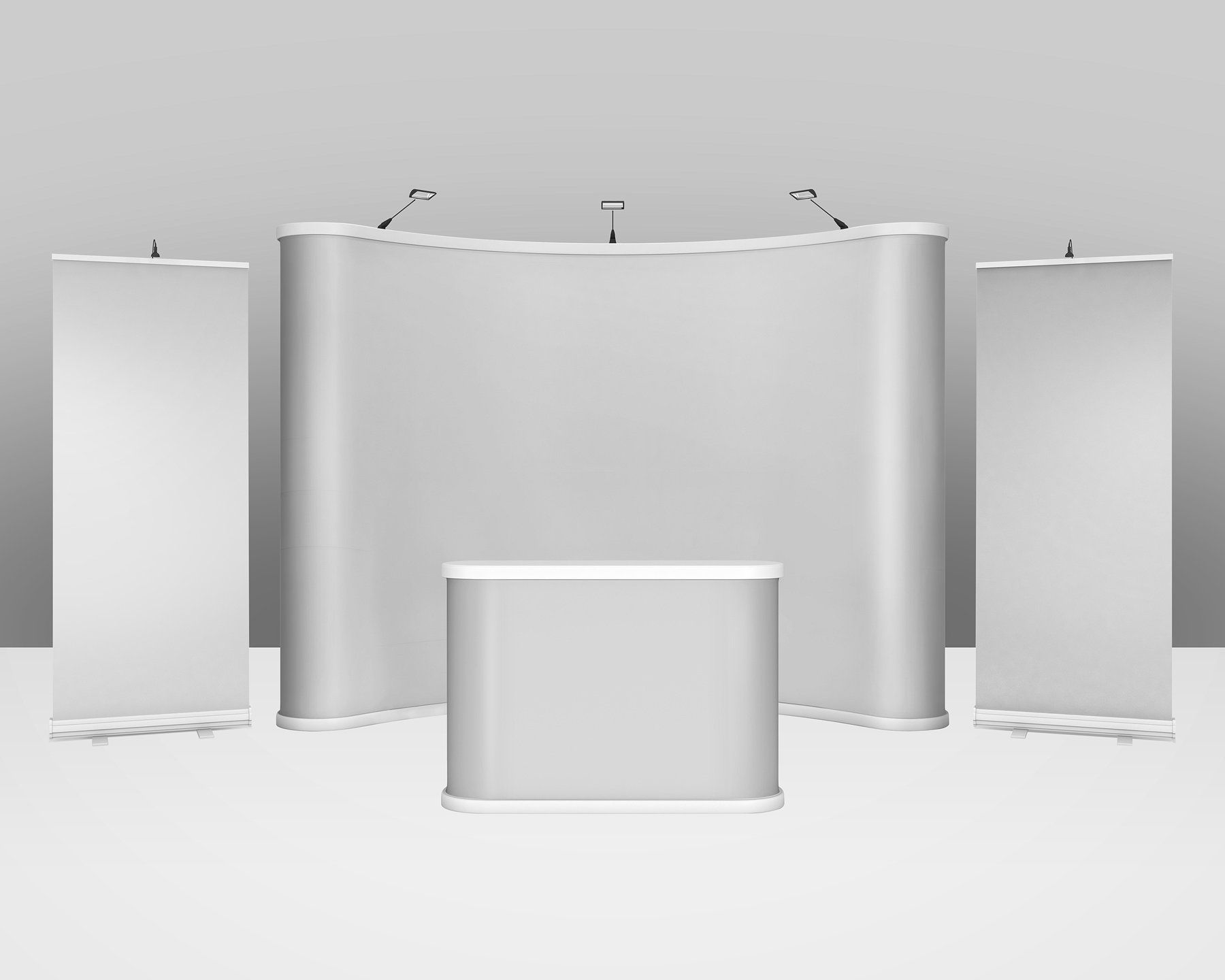 Trade Show Exhibition Booth Mockup By Vecto Designs On Creativemarket Trade Show Booth Design Exhibition Booth Mockup