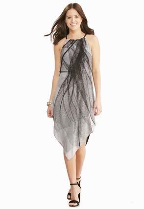 Cato Fashions Graphic Lines Hanky Hem Dress Plus Catofashions