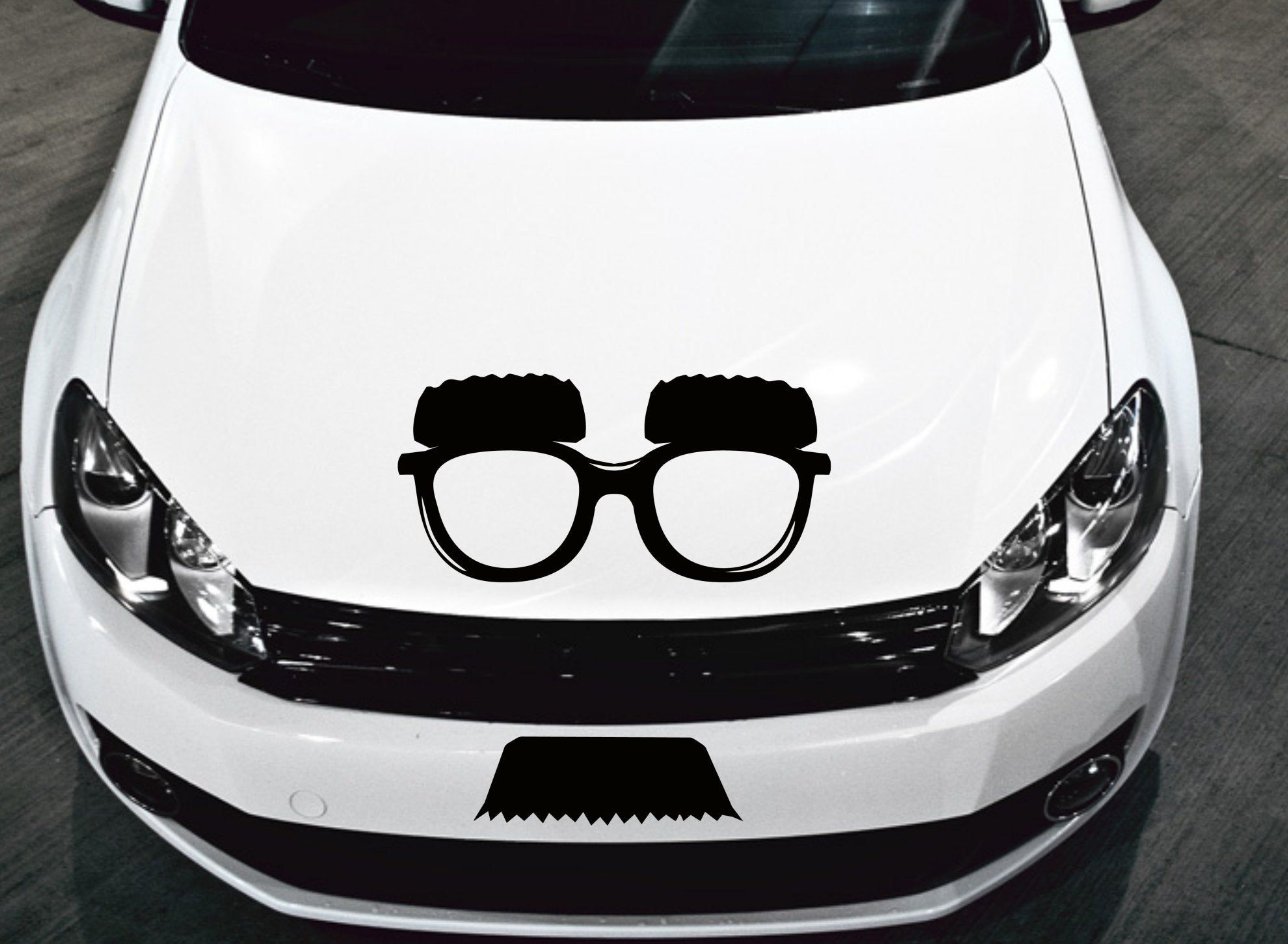 Incognito Decal Face Decal Disguise Decal Face Disguise White Vinyl