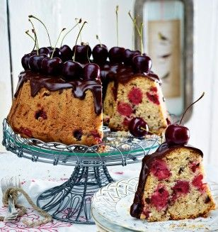 Mon Cherie Kuchen Rezept Sauerkirschen Zartbitterschokolade