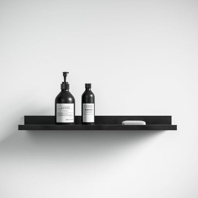 Photo of Designo Matte Black Floating Bathroom Shelf 600