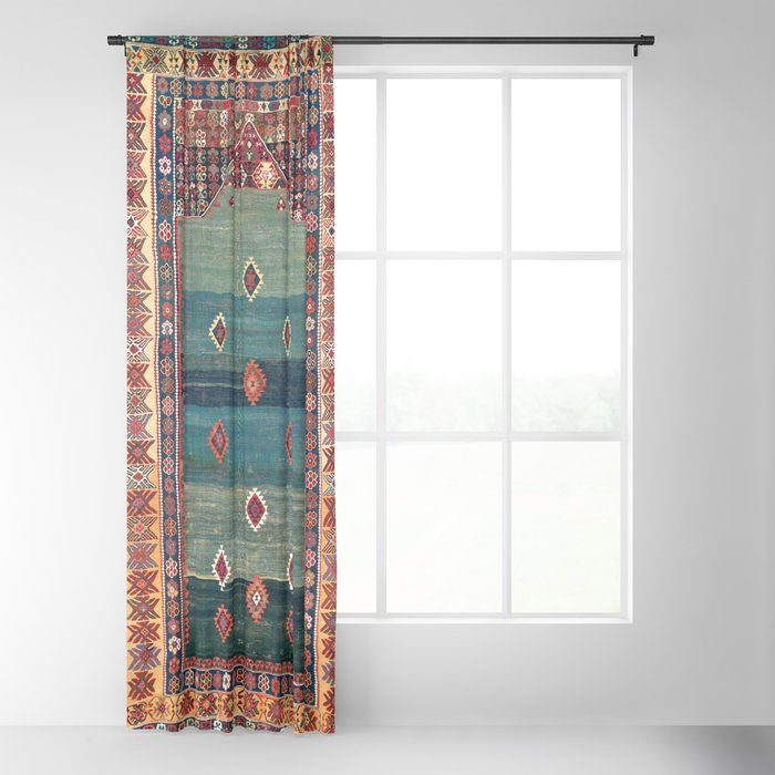 Sivas Antique Turkish Niche Kilim Print Blackout Curtain