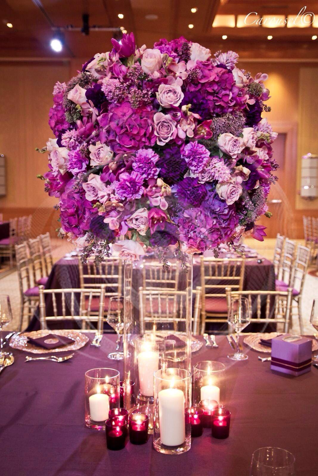 Radiant Orchid floral design | Decoración de flres | Pinterest ...