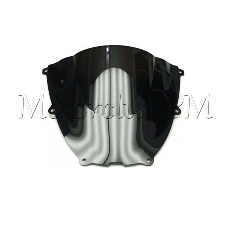 Black Smoke ABS Double Bubble Windscreen Windshield for 1997-2007 Yamaha YZF600R