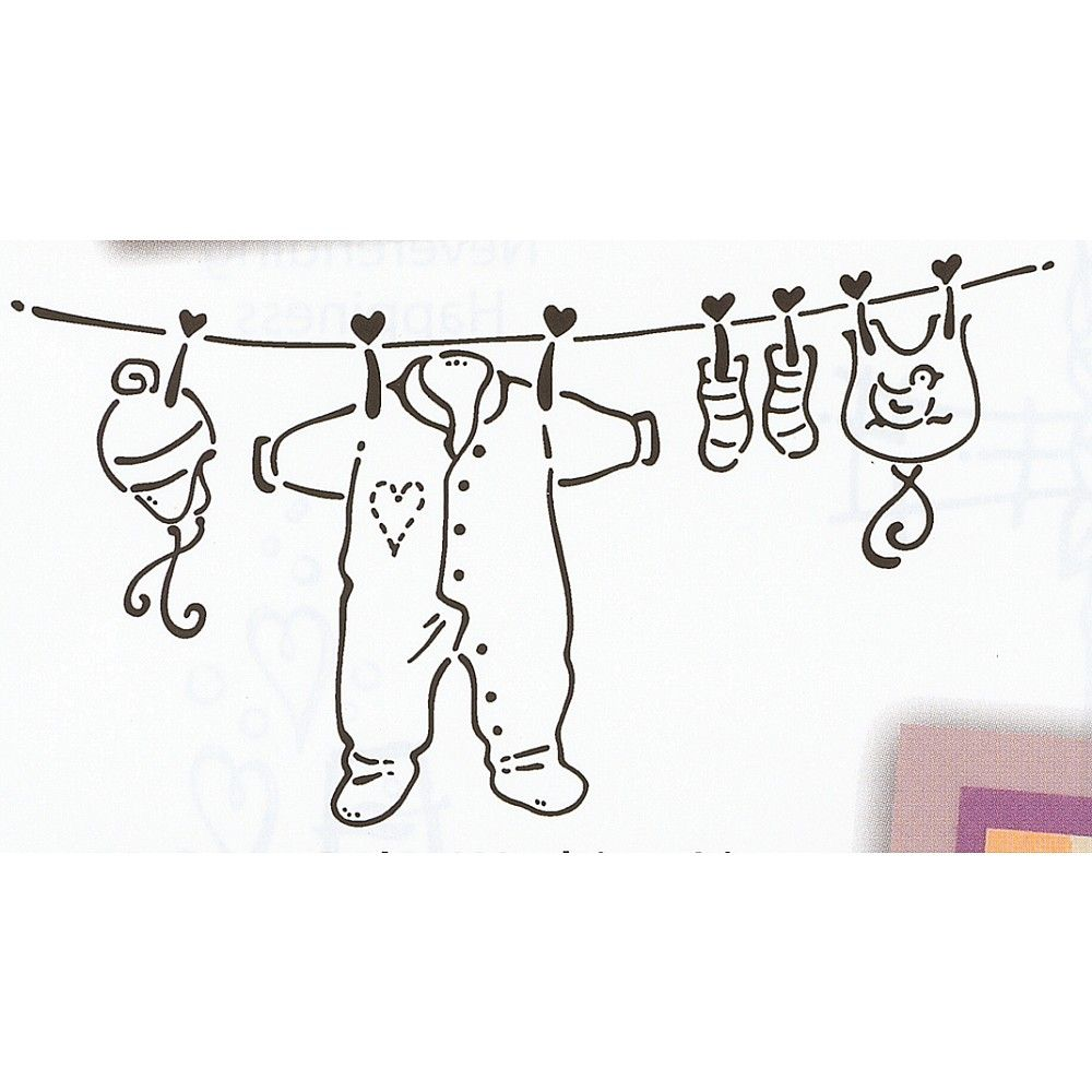 rubber stamp baby washing line art pinterest embroidery babies and clothes. Black Bedroom Furniture Sets. Home Design Ideas