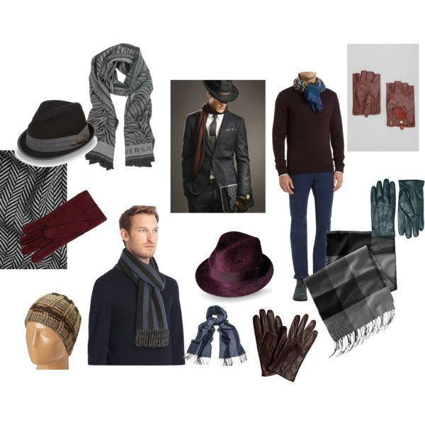 """""""Men's Snuggly and Warm Fall Accessories"""" by divinestyledc on Polyvore"""