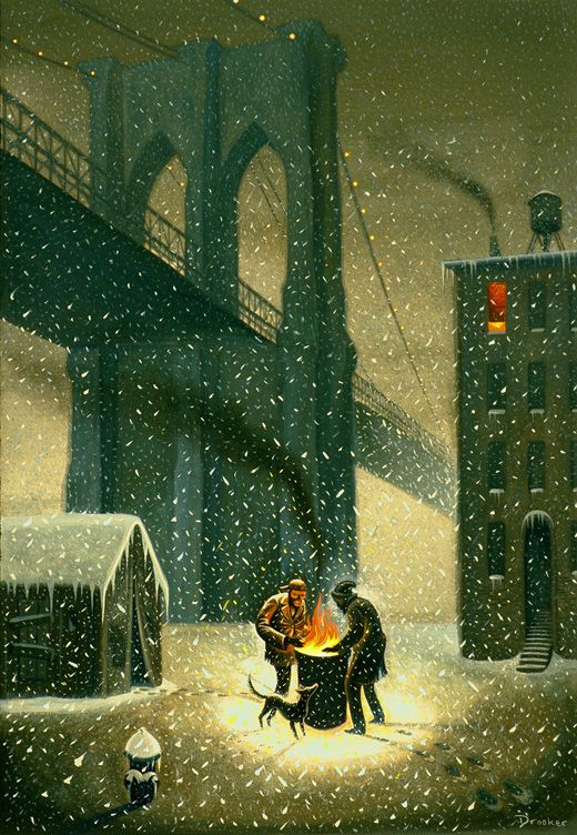 NYC. Brooklyn Bridge. // Eric Drooker